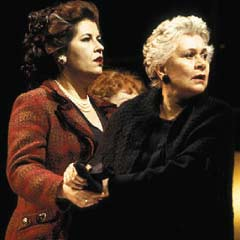 Joan Plowright (right) and Liza Tarbuck in Absolutely! (Perhaps) in London in 2003