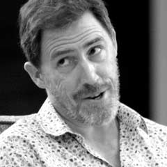 Rob Brydon rehearsing for A Chorus of Disapproval. Photo: Catherine Ashmore