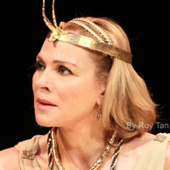 Kim Cattrall in Antony and Cleopatra. Photo: Roy Tan