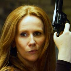 Catherine Tate as Sara Jane Moore. Photo by Nobby Clark