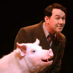 Reece Shearsmith and Betty in Betty Blue Eyes