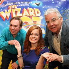 Andrew Lloyd Webber and Bill Kenwright with Sophie Evans