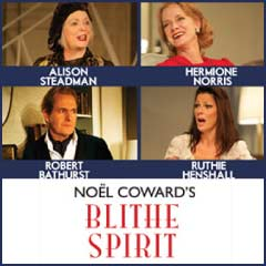 Blithe Spirit tickets at the Apollo Theatre starring Alison Steadman