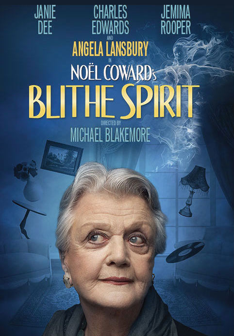 Poster for Blithe Spirit at the Gielgud Theatre starring Angela Lansbury