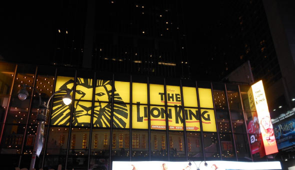 The Lion King at the Minskoff Theatre in New York