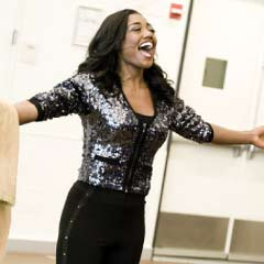 Patina Miller rehearses for Sister Act on Broadway