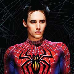 Reeve Carney as Spider-Man on Broadway
