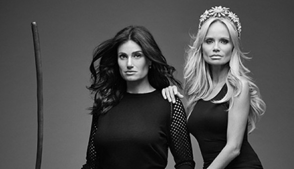 Wicked alumni, Idina Menzel and Kristin Chenoweth. Photo copyright Entertainment Weekly