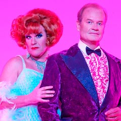 Douglas Hodge and Kelsey Grammer in La Cage Aux Folles on Broadway