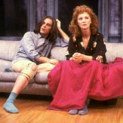 John Malkovich and Joan Allen in the 1987 Broadway production of Burn This