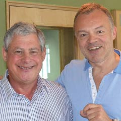 Cameron Mackintosh and Graham Norton