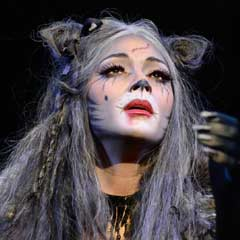 Nicole Scherzinger (Grizabella) in Cats at the London Palladium. Photo Alessandro Pinna