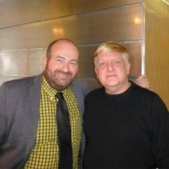 Chairman Mark Shenton and award winner Simon Russell Beale at the 2012 Critics' Circle Theatre Awards. Photo: http://www.criticscircle.org.uk