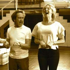 Robert Lindsay and Katherine Kingsley in rehearsals for Dirty Rotten Scoundrels