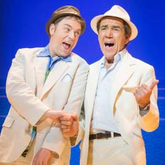 Robert Lindsay and Rufus Hound in Dirty Rotten Scoundrels