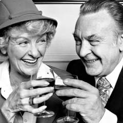 Donald Sinden and Elaine Stritch