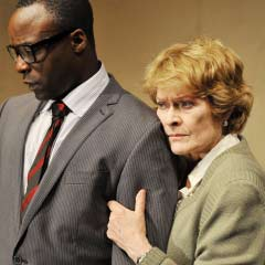 Hit productions such as Dream of the Dog win the Finborough Theatre the main award  (Pictured: Ariyon Bakare and Janet Suzman)