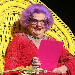 Dame Edna at the London Palladium. Photo: Roy Tan