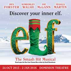 Elf The Musical at the Dominion Theatre