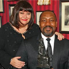 Lenny Henry wins Best Newcomer awards at the Evening Standard Theatre Awards