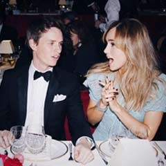 Eddie Redmayne and Suki Waterhouse at the Evening Standard Theatre Awards