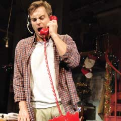 Kevin Bishop in Fully Committed at the Menier Chocolate Factory, Photo: Catherine Ashmore