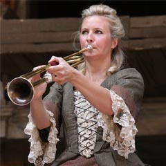 Alison Balsom in Gabriel at Shakespeare's Globe