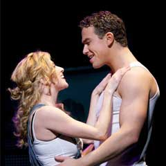 Caissie Levy and Richard Fleeshman in Ghost The Musical