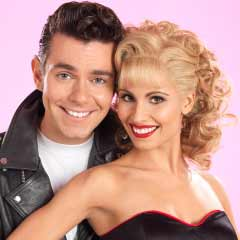 Carina Gillespie and Matthew Goodgame in Grease. Photo: Paul Coltas.