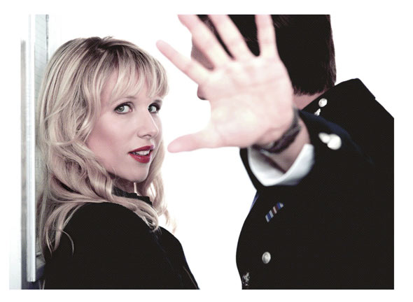 Lucy Punch in Great Britain at the Theatre Royal Haymarket. Photo by Johan Persson