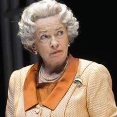 Marion Bailey as The Queen in Handbagged