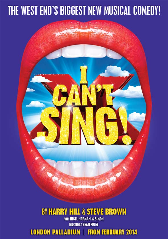 New poster for I Can't Sing! The X Factor Musical
