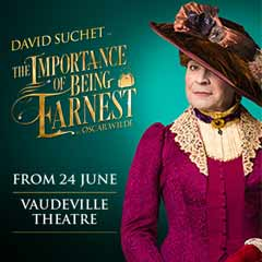 The Importance of Being Ernest at the Vaudeville Theatre starring David Suchet