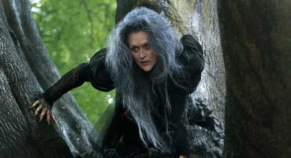 Meryl Streep as the Witch in the movie version of Into The Woods