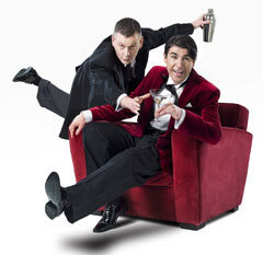 John Gordon Sinclair (Jeeves) and James Lance (Bertie Wooster) in Jeeves and Wooster in Perfect Nonsense. Photo: Uli Weber