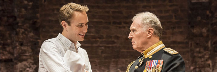 Tim Pigott-Smith and Oliver Chris in King Charles III