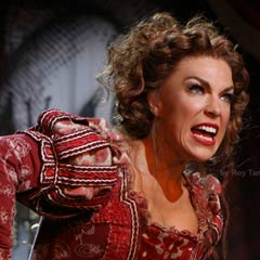 Hannah Waddingham in Kiss Me Kate at the Old Vic. Photo: Roy Tan