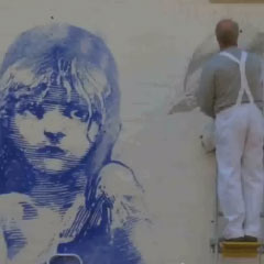 New Les Miserables mural uncovered