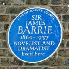 Blue Plaque for JM Barrie