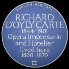 Blue Plaque for Richard D'Oyly Carte