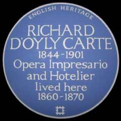 Blue Plaque for Richard D'Oyly Carte