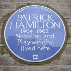 Blue Plaque for Patrick Hamilton