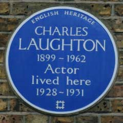 Blue Plaque for Charles Laughton