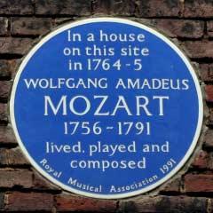 Blue Plaque for Mozart
