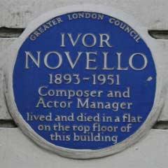 Blue Plaque for Ivor Novello