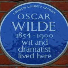 Blue Plaque for Oscar Wilde