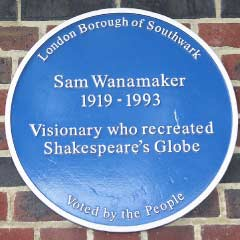 Blue Plaque for Sam Wanamaker