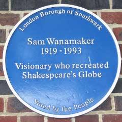 Blue Plaque for Sam Wanamaker