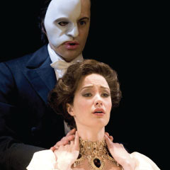 Stars of the Phantom 25th anniversary show, Ramin Karimloo and Sierra Boggess (pictured in Love Never Dies)