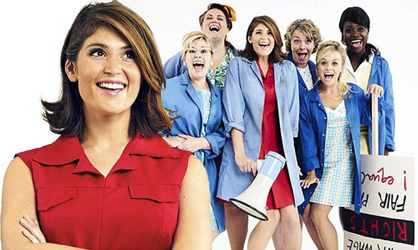 Gemma as Rita, and the female leading cast of Made in Dagenham The Musical